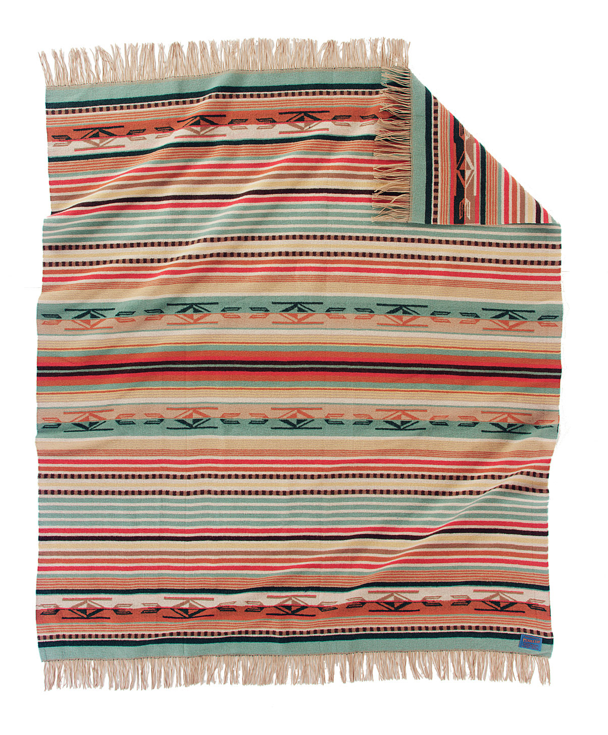 Chimayo Coral Fringed Throw