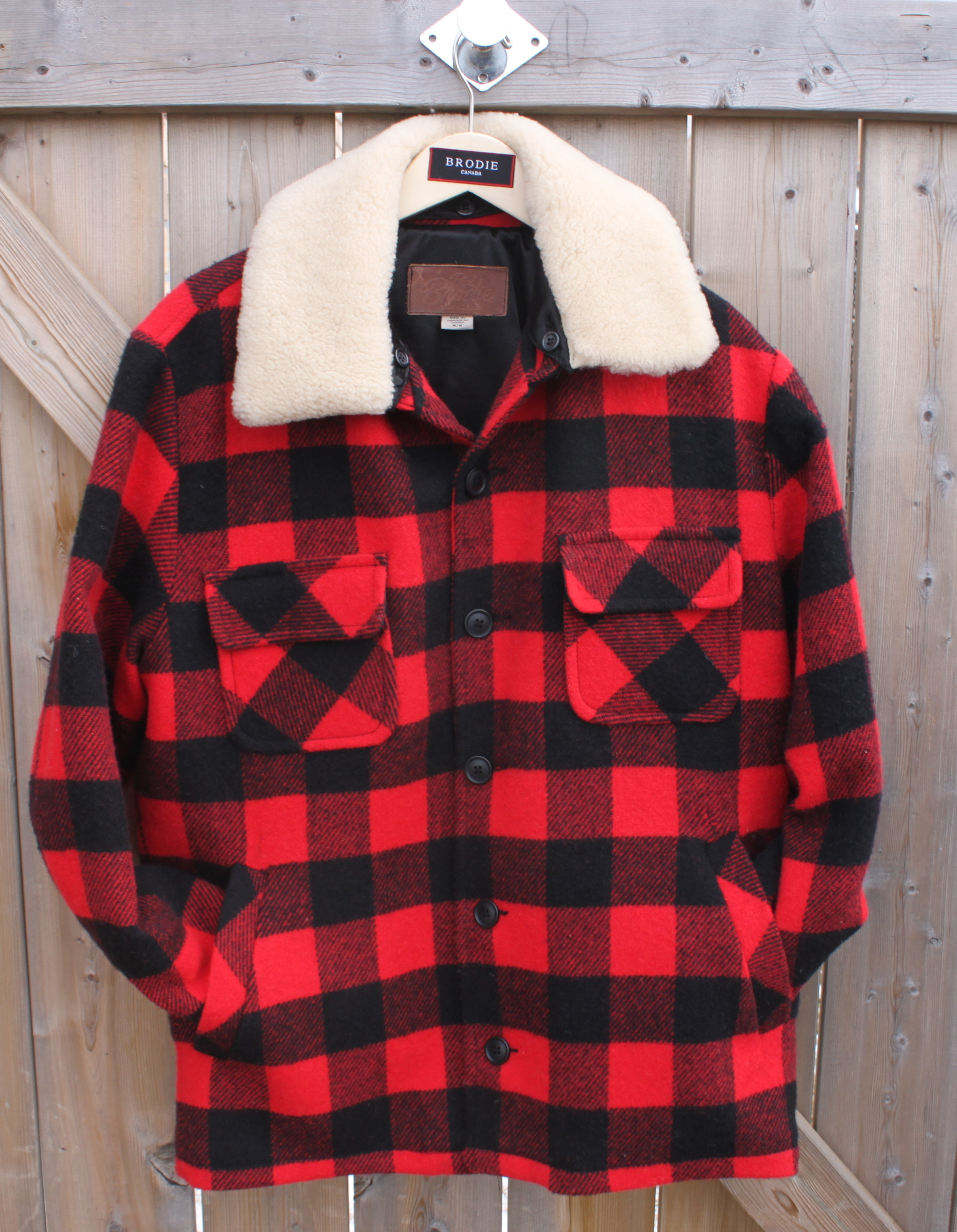 Mens Lumberman w Removable Shearling Collar