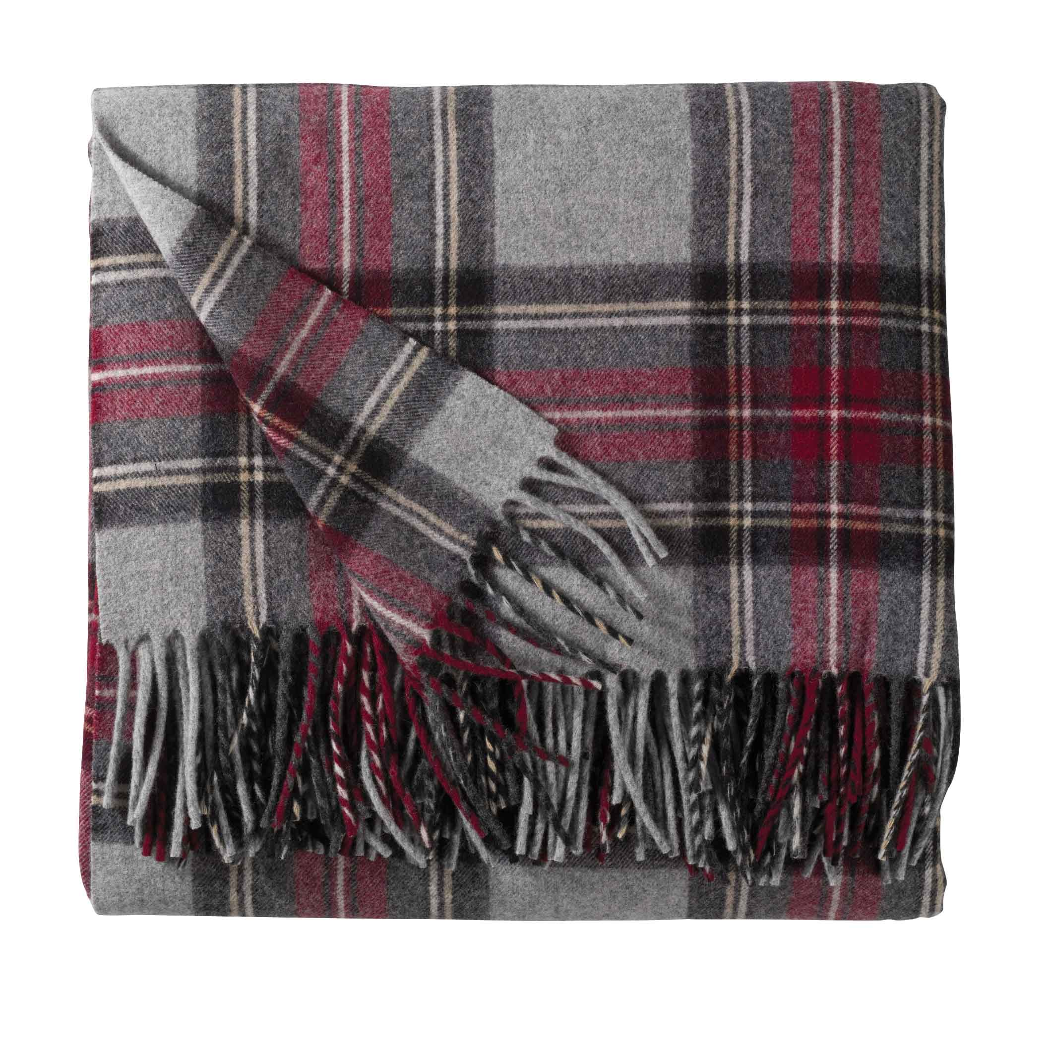 Merino Wool Throw - Grey Stewart