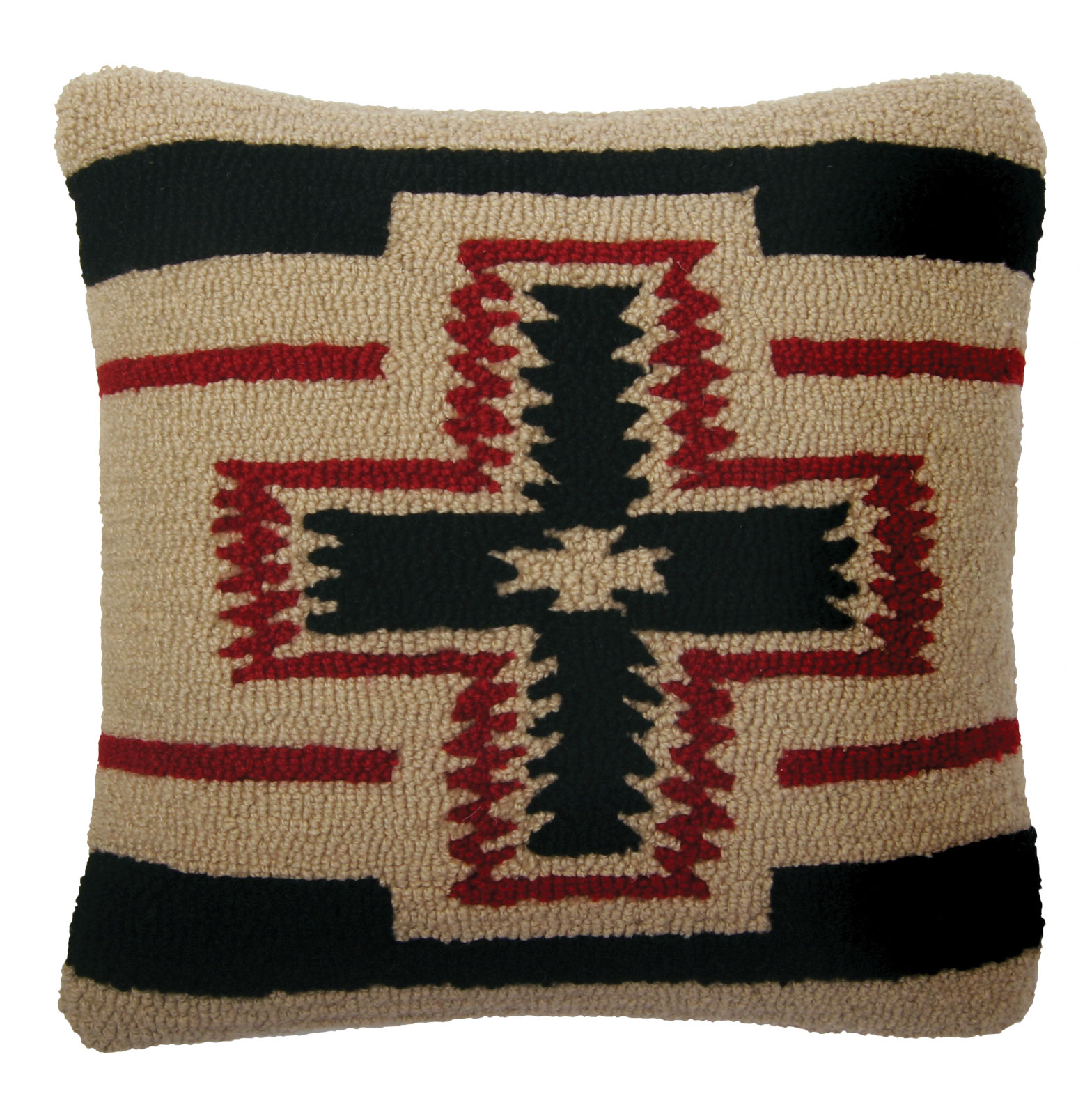 San Miguel Hooked Wool Pillow